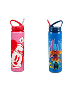 Disney Store Water Bottle Stainless Steel Drink Straw Minnie Mouse Big H... - $44.95