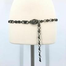 Heart Floral Metal Belt Adjustable Chain Silver - $27.55