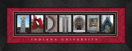 Indiana University Officially Licensed Framed Campus Letter Art - $39.95