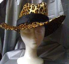 LEOPARD PRINT COWBOY HAT - $25.00