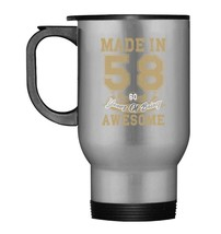 Made in 58 60 Years Old  60th Birthday Gift Travel Mug - $21.99
