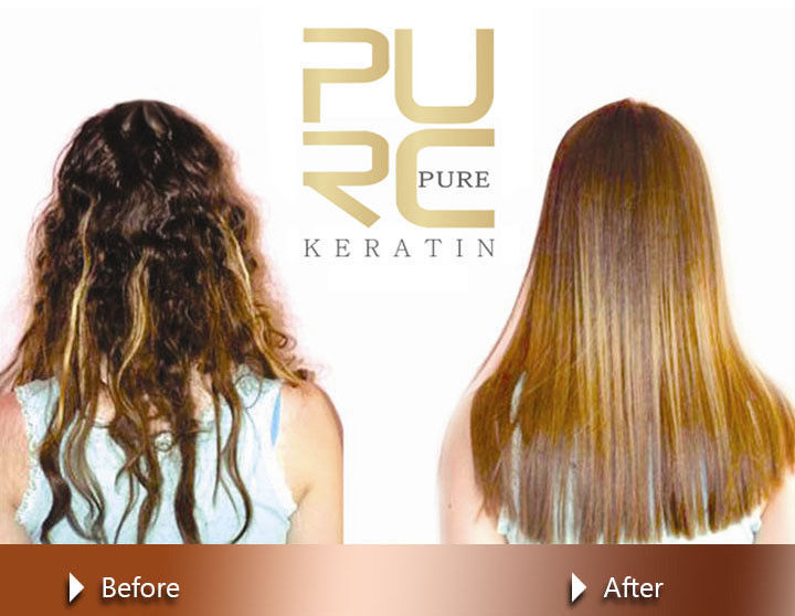 Keratin Treatment 5% Formaldehyde Straightening Hair + Shampoo & Gift Argan Oil