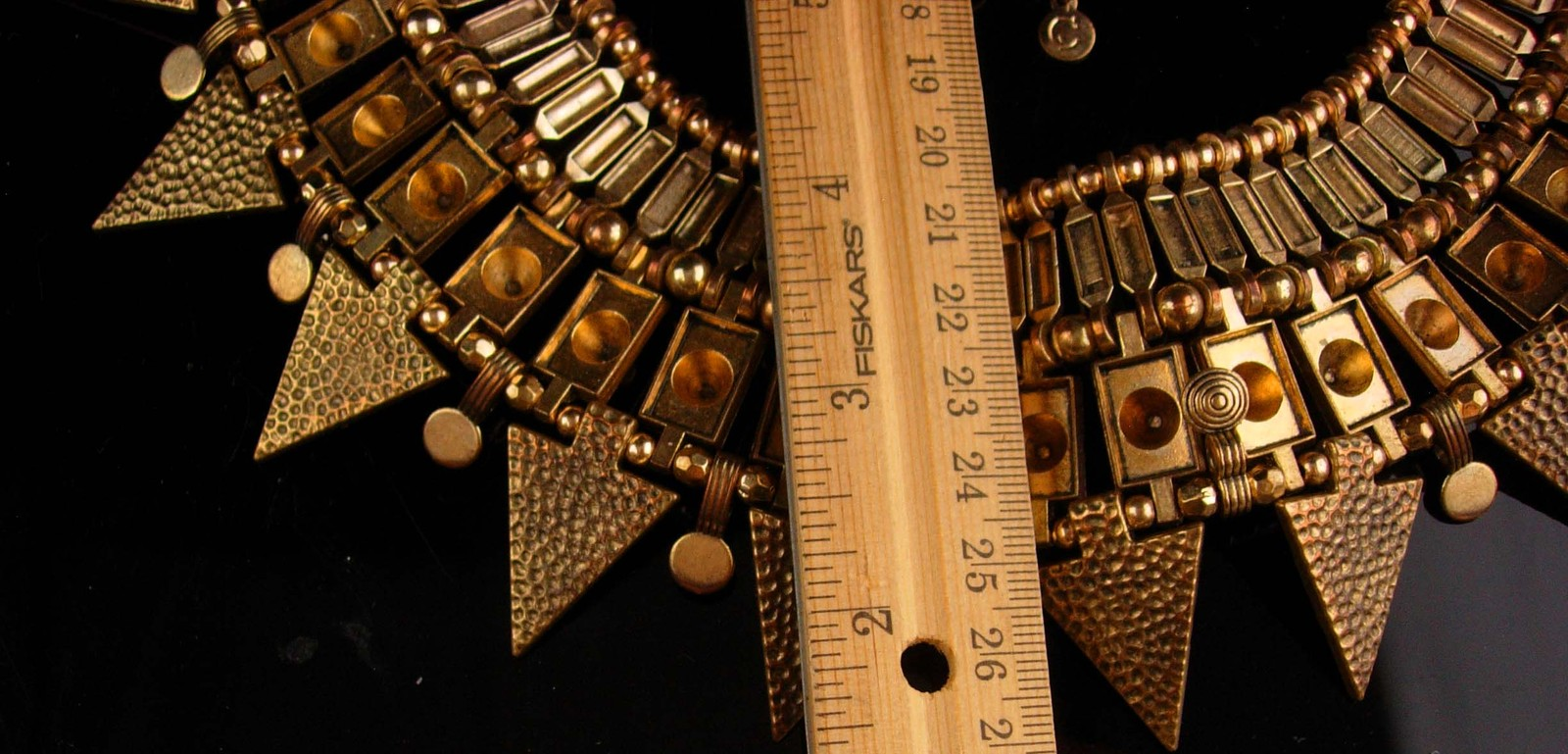 Cleopatra signed Necklace - large heavy Hippie style - big etruscan choker -  in