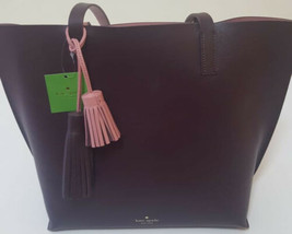 Kate Spade New York Foster Court Tasha Pebbled Leather Tote Bag (Aubergine/Rose) - $158.28