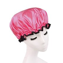 Stylish Design Waterproof Double Layer Shower Cap Spa Bathing Caps, Watermelon