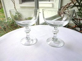 Set of 2 Clear Crystal Champagne Glasses Maker Unknown - $25.73
