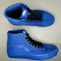 VANS Sk8-Hi Skate Shoes Mens Size 7 Skateboarding Blue Black Womens 8.5 - £45.00 GBP