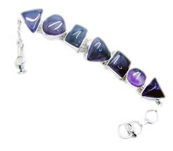Fine 925 Sterling Silver Amethyst Bracelets Women Jewelry FWU31MJB09 - $139.03 CAD