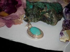 QVC WK Whitney Kelly Sterling Kingman Turquoise Pendant Enhancer Designe... - $89.09