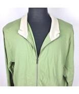 Banana Republic Mens 2x Green Full Zip Up Sweatshirt Jacket Mock Turtle ... - $34.99