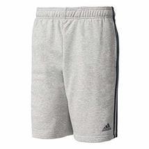 adidas Essentials 3 Stripes French Terry Shorts (Medium Grey Heather, L)