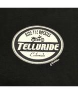Ride The Rockies Telluride Colorado Motorcycle Rally T-shirt Black Men M... - $17.41