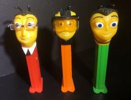 PEZ DISPENSERS-BEE MOVIE-Set of 3-Loose-Pollen Jock - $9.90