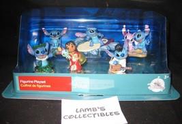 Disney Store Authentic Lilo & Stitch Action Figurine Playset Cake Topper 6 piece - $29.63