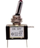 Buss Toggle Switch On-Off Red LED 20A 12V Heavy Duty BP/STT - $9.95