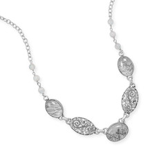 Sterling Silver Necklace with Rutilated Quartz - $164.98