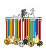 Newly Triatlón Acero Inoxidable Medalla Colgador Deporte Regalo Baño Cor... - $45.93