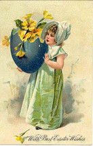 Best Easter Wishes Paul Finkenrath of Berlin 1908 Post Card - $7.00
