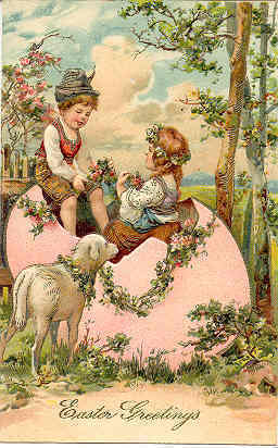 Easter Greetings Paul Finkenrath of Berlin Vintage Post Card