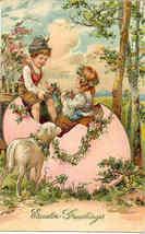 Easter Greetings Paul Finkenrath of Berlin Vintage Post Card - $8.00