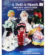 DOLL-A-MONTH CROCHET COLLECTION JAN. - JUNE AM. SCHOOL - $5.95