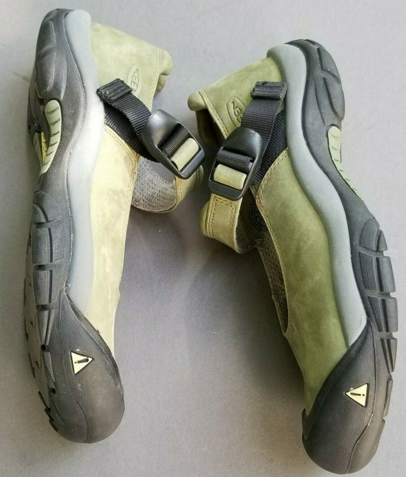 Keen Womens Mary Jane 7.5 Buckle Strap Green Suede Slip On Trail Shoes 38 image 7