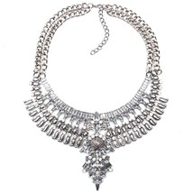 Ztech 2019 Women Necklaces & Pendants Vintage Crystal Maxi Choker Statem... - $29.07