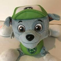 Paw Patrol Rocky Green Pup Spin Master Nickelodeon Plush Bean Bag Stuffe... - $4.99