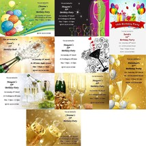 Personalised 18th 21st 30th 40th 50th party invitations - $1.30+