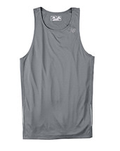 E4 Gravel gray L  N9138 New Balance Men Tempo Running Singlet Muscle Top... - $5.54
