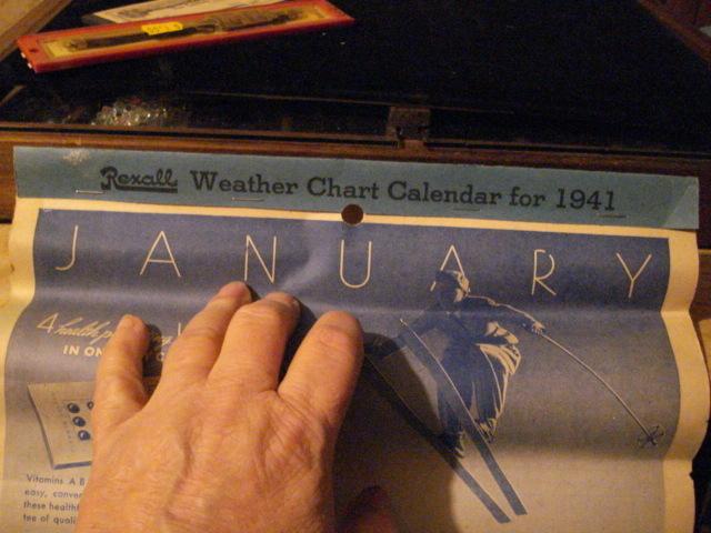 1941 Rexall Calendar Raton, N.M.