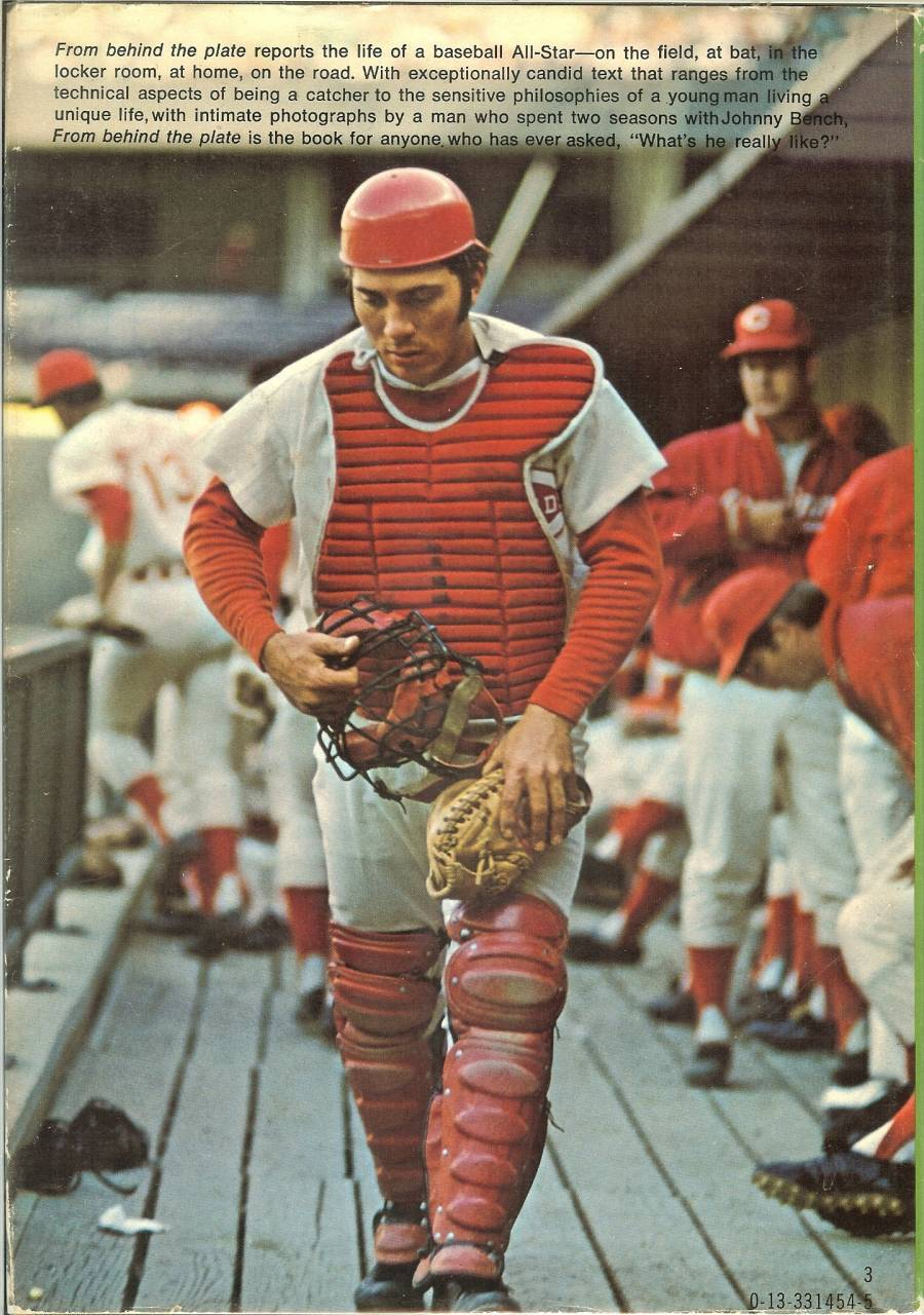 from behind the plate johnny bench baseball book first edition cincinnati reds