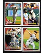 2010 Topps St. Louis CARDINALS Team Set Both Series 1 & 2 (18 cards) Pujols - $3.00