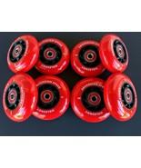 8 HiLo 76-80mm Holeshot Inline Wheels w Abec-9 Bearings-Indoor 74a Roller Hockey - $69.99