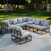 Patio Conversation Set. Medium Outdoor Furniture Kit of Aluminum for Fir... - $2,201.76