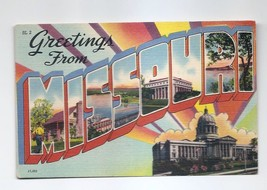 Postcard - Greetings From Missouri Colourpicture Vintage Unposted - $2.61
