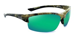 ONE -Archer - Sports wrap Polarized Mens Green Sunglasses - $44.23