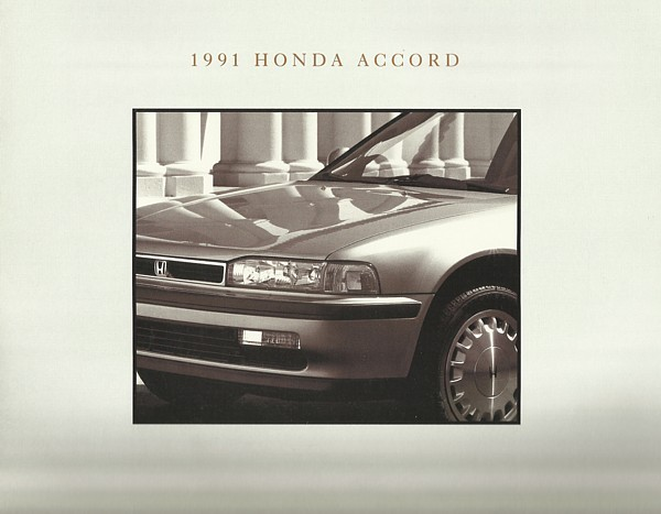 1991 Honda Accord Sales Brochure Catalog Us 91 Dx Lx Ex Se