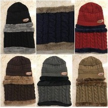 ff6290ed676d2 Winter Hat Cashmere Keep Warm Thickened Wool Cap Scarf And Hats Set 2 To.