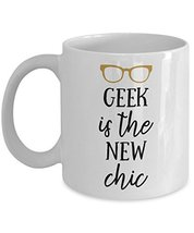 Geek Chic Coffee Mug Ceramic Funny Nerd Travel Cup 110z 15oz White Novel... - $14.95+