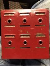 Vtg~1940s~HOME BUDGET BANK~Tudor Metal Prod~No Key - $27.72
