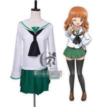 GIRLS und PANZER Nishizumi Miho Saori Takebe School Uniform Cosplay Costume - $32.99