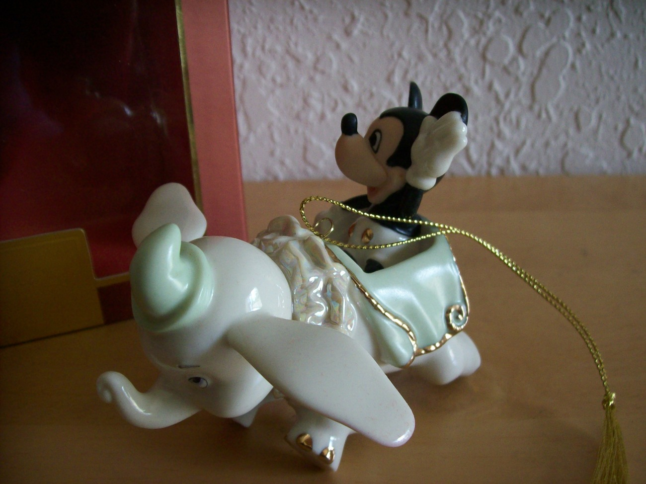 Disney Lenox Mickey Soaring with Dumbo Christmas Ornament