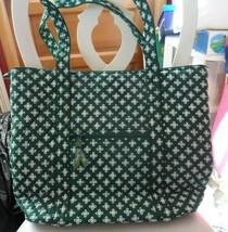 Vera Bradley Villager large zipper tote in mini concerto green - $54.00