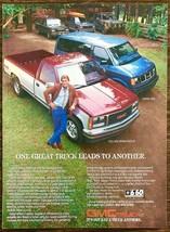 1987 PRINT AD 1988 GMC Sierra Pickup & Safari Van 1 Great Truck Leads to Another - $10.89