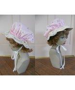 Women's Bonnet Renaissance Bo Peep Muffet mop mob hat cap fairy tale 2 in 1 - $35.00