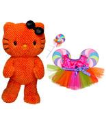 "Build a Bear Orange Hello Kitty Halloween Lollipop Candy Costume 18"" Plu... - $134.99"