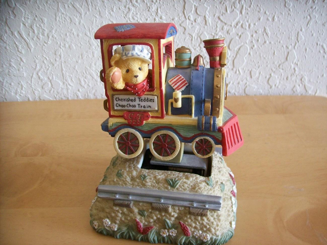 1997 Cherished Teddies Choo-Choo Train Animated Musical Figurine