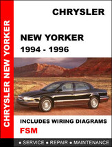 Chrysler New Yorker 1994   1996 Factory Oem Service Repair Maintenance Manual - $14.95