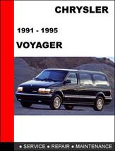 Chrysler Voyager  & Grand Voyager 1991   1995 Factory Oem Service Repair Manual - $14.95